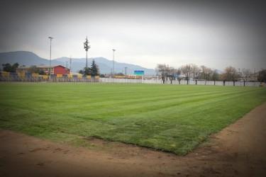 Entre los trabajos, destaca el mejoramiento de la cancha del estadio.